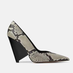 Zara Assymetric Heeled Animal Print Heel 1201/001
